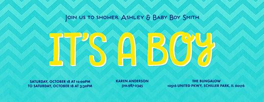 boy, baby, its a boy, chevron, baby shower, blue,