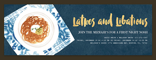 Latkes and Libations Invitation