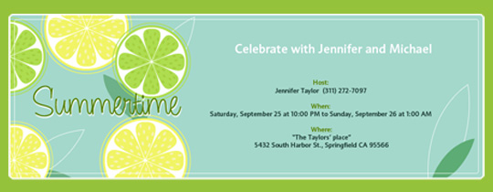 Lemon Lime Invitation