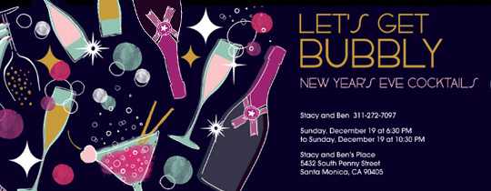 Let's Get Bubbly Invitation