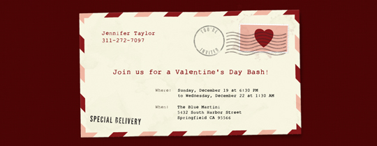Love Envelope Invitation