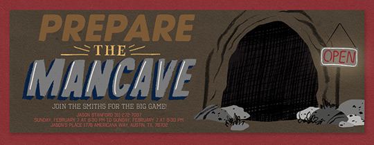 Man Cave Invitation