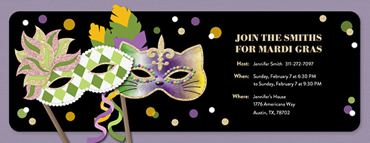 mardi gras free online invitations, Party invitations