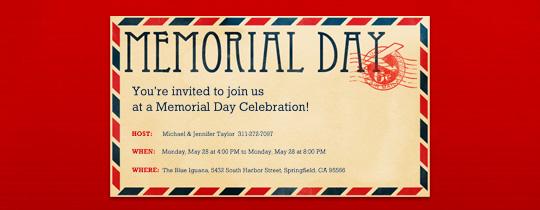 Memorial Day Postcard Invitation