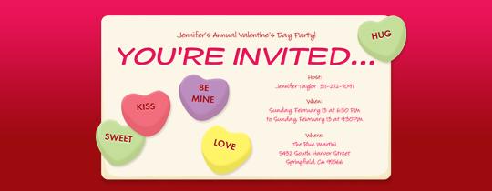 Message Hearts Invitation