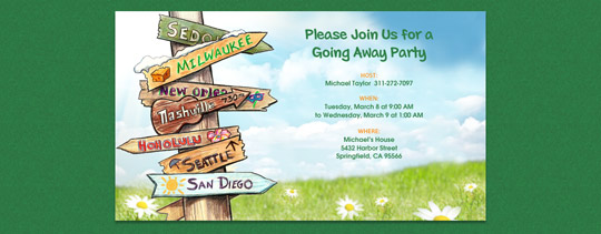 Moving Signs Invitation