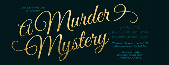 dinner, dinner party, mystery party, clue, theme party, murder,