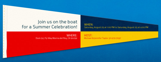 Nautical Flag Invitation