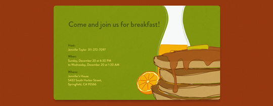 Pancakes Invitation