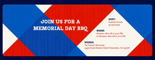 Patriotic Picnic Invitation