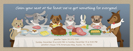 Pet Feast Invitation