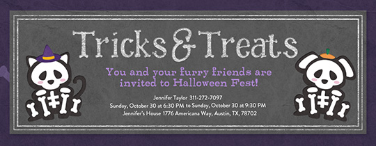 Pet Skeletons Invitation