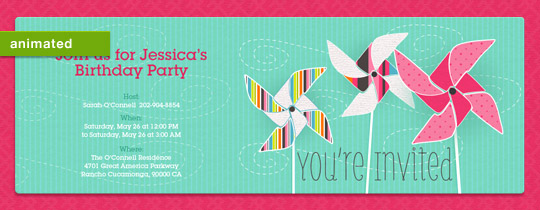 Pinwheels Invitation