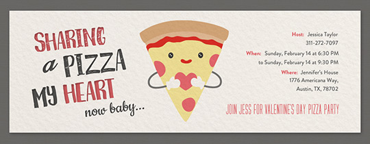 Pizza My Heart Invitation