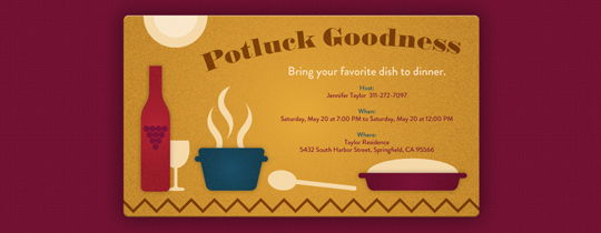 Potluck Goodness Invitation