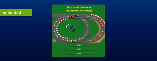 Race Track Invitation