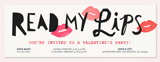 Read My Lips Invitation