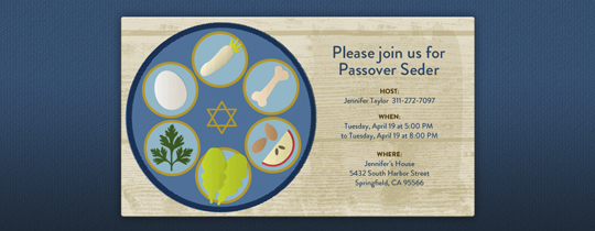 Seder Invitation