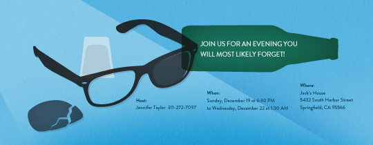 Shades and Beer Invitation