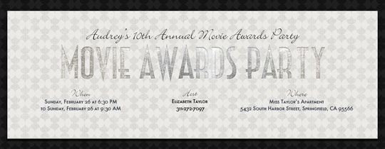 Silver Screen Invitation