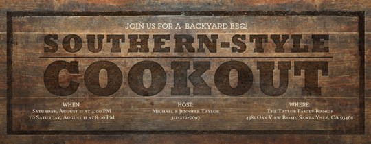 Southern-Style Cookout Invitation
