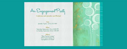 Teal Engagement Invitation