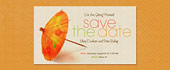 cocktail umbrella, destination wedding, hawaii, hawaiian, save the date, tropical, tropics