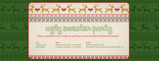 christmas, holidays, reindeer, sweater, ugly sweater party, xmas
