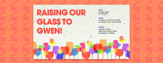 Vibrant Glasses Invitation
