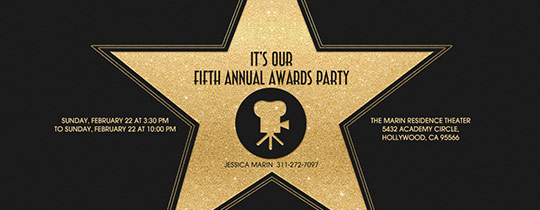 hollywood, walk of fame, star, gold, awards party, awards, viewing party, movie awards, oscars, oscar party,