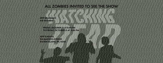 dead, movie night, halloween, watch party, viewing party, zombies