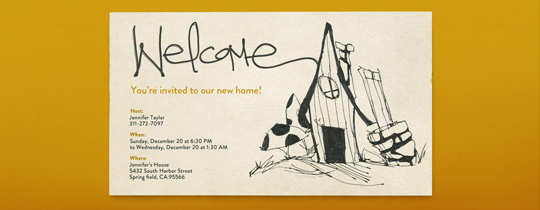 Welcome Sketch Invitation