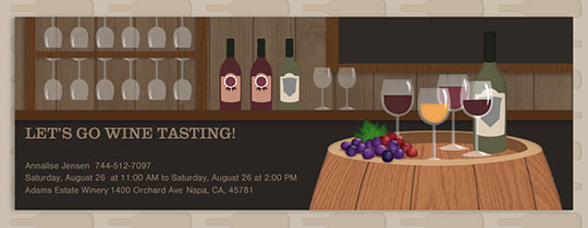 Wine Barrel Invitation