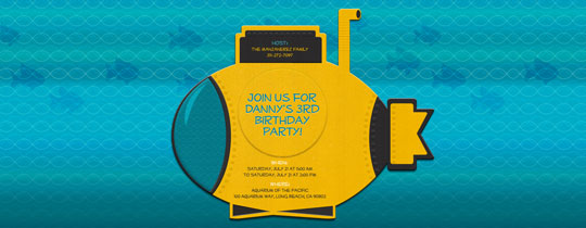 Yellow Submarine Invitation
