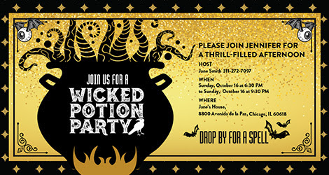 Wicked Potion Party Invitation