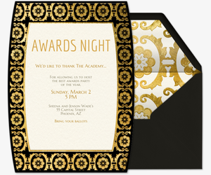 Viewing party free online invitations awards night invitation stopboris Image collections