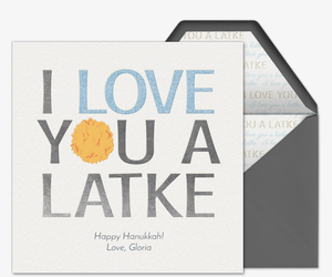Love Latke Invitation