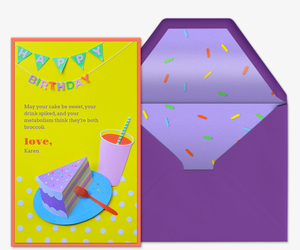 Birthday Banner Invitation