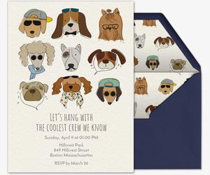 Pet Party AnimalThemed Online Invitations Evitecom - Dog party invitations template