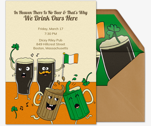 Happy Irish Beer Invitation