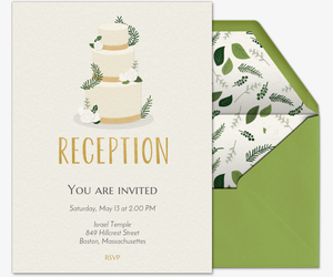 Green Reception Invitation