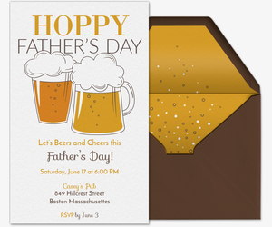 Hoppy Father's Day Invitation