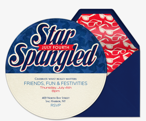 Star Spangled Invitation