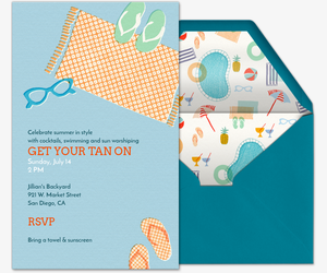 Tan On Invitation