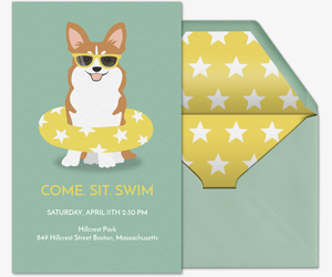 Pet Pool Party Invitation