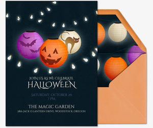 Halloween Lanterns Invitation