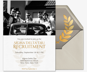 Laurel Emblem Invitation