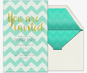 Dinner Party Invitations w/what to bring list for guests - Evite