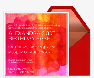Abstract Canvas Invitation