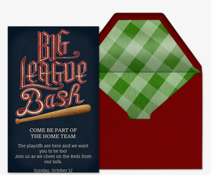 Big League Bash Invitation